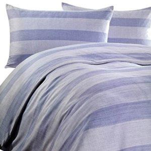 Kuschelige Bettwäsche aus Microfaser - blau 200x200 von Leonado Vicenti