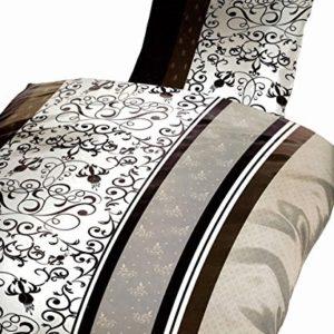 Schöne Bettwäsche aus Microfaser - braun 135x200 von Bertels