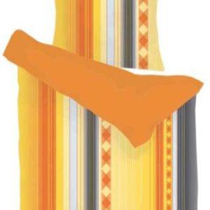 Traumhafte Bettwäsche aus Microfaser - gelb 135x200 von Magita