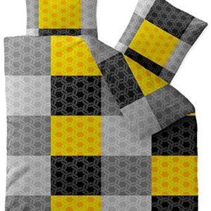 Traumhafte Bettwäsche aus Microfaser - gelb 200x200 von CelinaTex