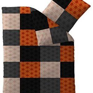 Schöne Bettwäsche aus Microfaser - grau 135x200 von aqua-textil