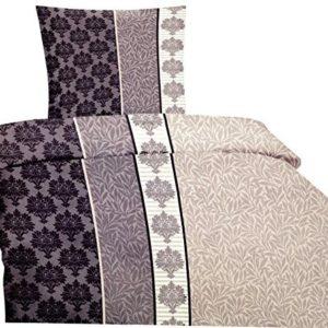 Schöne Bettwäsche aus Microfaser - grau 135x200 von Bertels