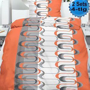 Kuschelige Bettwäsche aus Microfaser - grau 135x200 von KH-Haushaltshandel