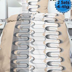 Traumhafte Bettwäsche aus Microfaser - grau 135x200 von KH-Haushaltshandel