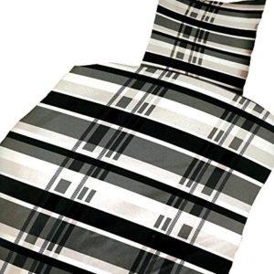 Traumhafte Bettwäsche aus Microfaser - grau 135x200 von Leonado Vicenti