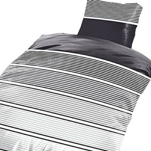 Hübsche Bettwäsche aus Microfaser - grau 135x200 von Leonado Vicenti