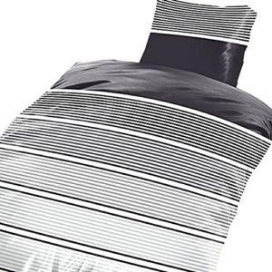 Kuschelige Bettwäsche aus Microfaser - grau 135x200 von Leonado Vicenti