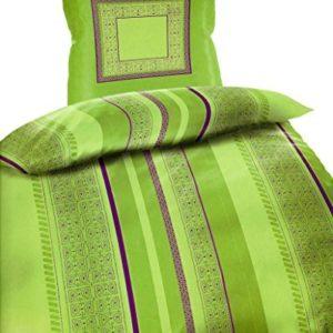 Kuschelige Bettwäsche aus Microfaser - grün 135x200 von Bertels