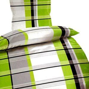 Schöne Bettwäsche aus Microfaser - grün 135x200 von Bertels