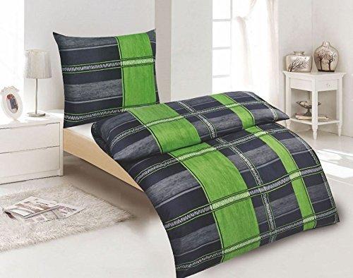 h bsche bettw sche aus microfaser gr n 135x200 von bertels bettw sche. Black Bedroom Furniture Sets. Home Design Ideas