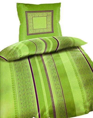traumhafte bettw sche aus microfaser gr n 135x200 von bertels bettw sche. Black Bedroom Furniture Sets. Home Design Ideas