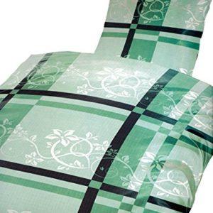 Hübsche Bettwäsche aus Microfaser - grün 135x200 von Bertels
