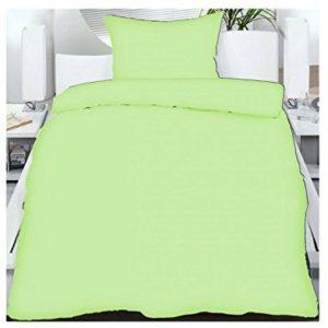 Hübsche Bettwäsche aus Microfaser - grün 135x200 von Frottier Heimtexhandel