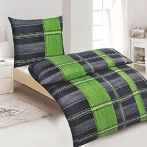 Schöne Bettwäsche aus Microfaser - grün 135x200