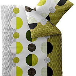 Kuschelige Bettwäsche aus Microfaser - grün 200x200 von CelinaTex