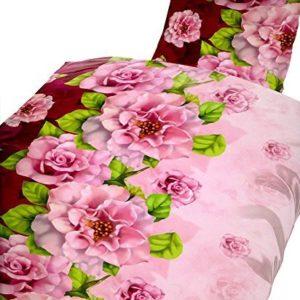 Traumhafte Bettwäsche aus Microfaser - rosa 135x200 von 1stB HOME