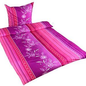 Schöne Bettwäsche aus Microfaser - rosa 135x200 von Leonado Vicenti
