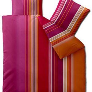 Hübsche Bettwäsche aus Microfaser - rosa 200x200 von CelinaTex