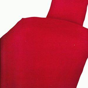 Traumhafte Bettwäsche aus Microfaser - rot 135x200 von Leonado Vicenti