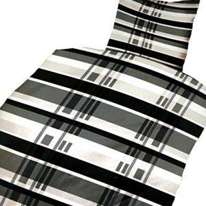 Kuschelige Bettwäsche aus Microfaser - schwarz 135x200 von Bertels