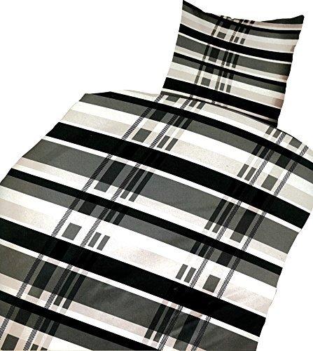 kuschelige bettw sche aus microfaser schwarz 135x200 von bertels bettw sche. Black Bedroom Furniture Sets. Home Design Ideas