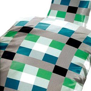 Schöne Bettwäsche aus Microfaser - schwarz 135x200 von Bertels