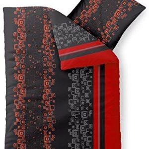 Hübsche Bettwäsche aus Microfaser - schwarz 135x200 von CelinaTex