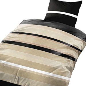 Schöne Bettwäsche aus Microfaser - schwarz 135x200 von Leonado Vicenti