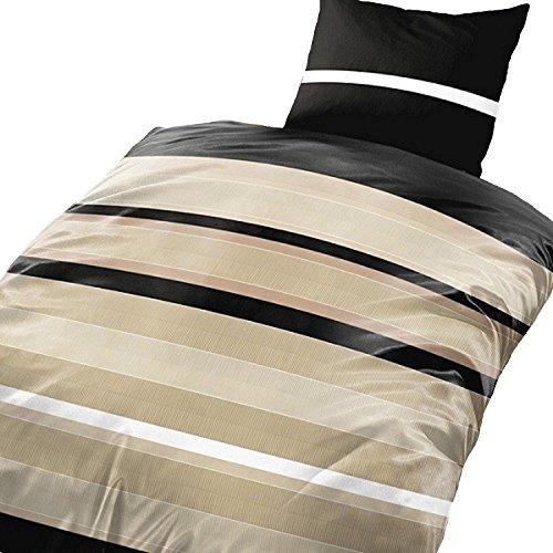 sch ne bettw sche aus microfaser schwarz 135x200 von leonado vicenti bettw sche. Black Bedroom Furniture Sets. Home Design Ideas