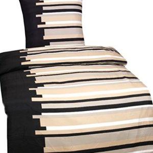 Traumhafte Bettwäsche aus Microfaser - schwarz 135x200 von Leonado Vicenti