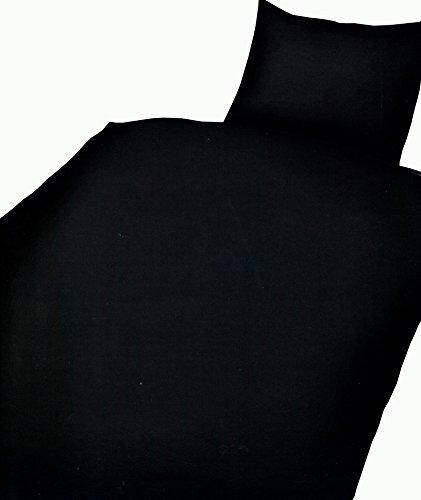 sch ne bettw sche aus microfaser schwarz 135x200 von. Black Bedroom Furniture Sets. Home Design Ideas