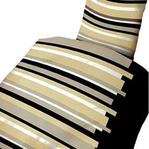 Hübsche Bettwäsche aus Microfaser - schwarz 135x200 von Leonado Vicenti
