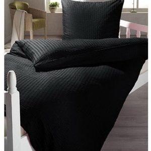 Hübsche Bettwäsche aus Microfaser - schwarz 135x200 von lifestyle4living
