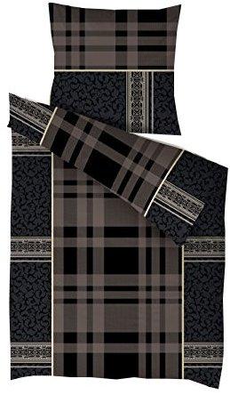 Kuschelige Bettwäsche aus Microfaser - schwarz 135x200