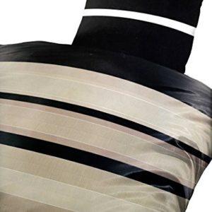 Schöne Bettwäsche aus Microfaser - schwarz 155x220 von Bertels