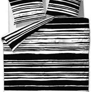 Hübsche Bettwäsche aus Microfaser - schwarz weiß 135x200 von Etérea