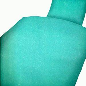Hübsche Bettwäsche aus Microfaser - türkis 135x200 von Leonado Vicenti