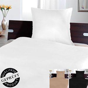 Kuschelige Bettwäsche aus Microfaser - weiß 135x200 von 4 Trendy Living