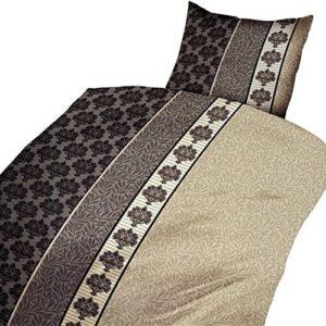 Hübsche Bettwäsche aus Microfaser - weiß 135x200 von Leonado Vicenti