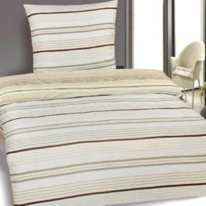 Hübsche Bettwäsche aus Microfaser - weiß 135x200