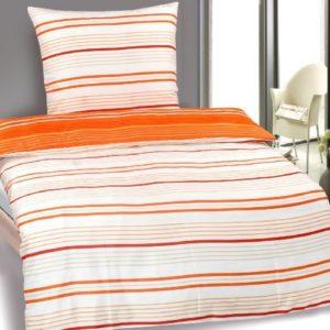 Schöne Bettwäsche aus Microfaser - weiß 135x200