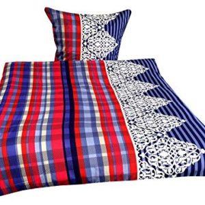 Kuschelige Bettwäsche aus Mikrofaser - blau 135x200 von Leonado Vicenti
