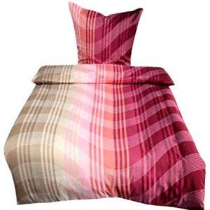Kuschelige Bettwäsche aus Mikrofaser - rot 135x200 von Leonado Vicenti