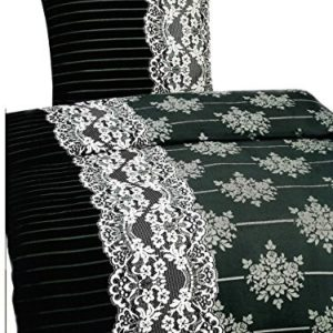 Kuschelige Bettwäsche aus Mikrofaser - schwarz 135x200 von Leonado Vicenti
