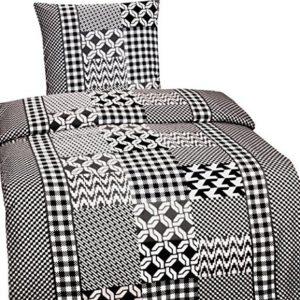 Hübsche Bettwäsche aus Mikrofaser - schwarz 135x200 von Leonado Vicenti