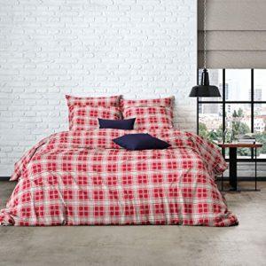 Schöne Bettwäsche aus Perkal - blau 200x200 von Mistral
