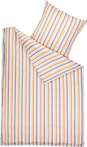 Schöne Bettwäsche aus Perkal - grau 135x200 von Brennet
