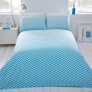 Schöne Bettwäsche aus Polyester - blau 200x200 von IK Trading