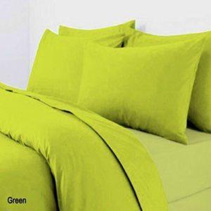 Kuschelige Bettwäsche aus Polyester - grün 200x200 von A&R