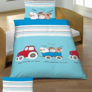 Traumhafte Bettwäsche aus Renforcé - blau 100x135 von Baby Butt